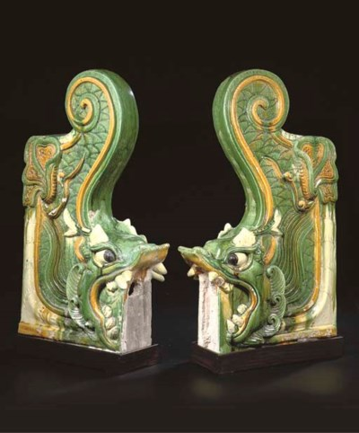 A pair of late Ming sancai-gla