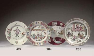 A Dutch-decorated plate