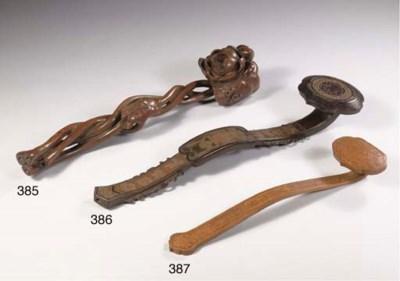 A boxwood ruyi sceptre
