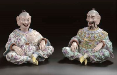 A pair of Thuringian porcelain
