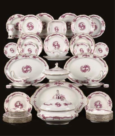 A Meissen assembled Purple Dra