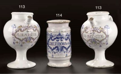 A pair of Brussels Delftware p