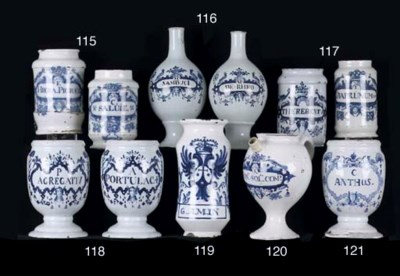 A Brussels Delftware blue and