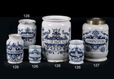 Four Brussels Delftware blue a