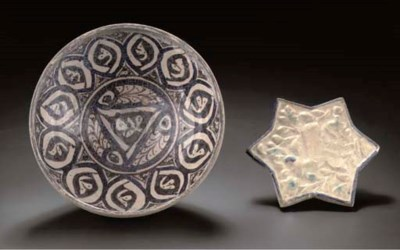 A Raqqa pottery bowl and a mou