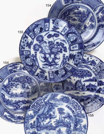 Two Dutch Delft blue and white