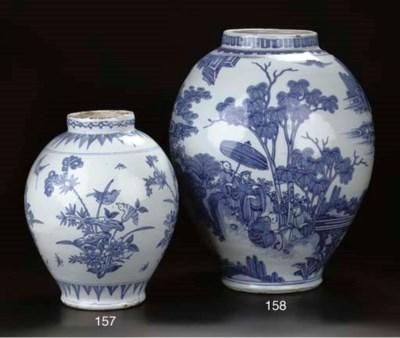 A Dutch Delft blue and white c