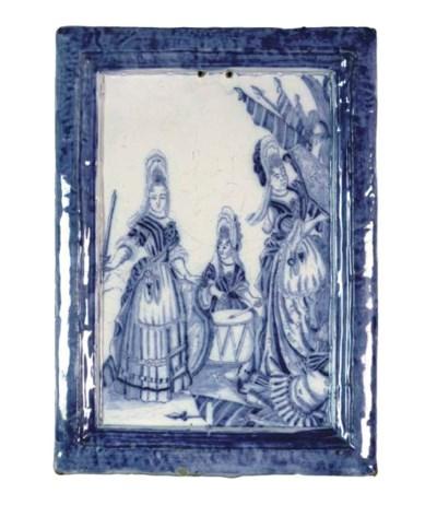 A Delftware blue and white rec