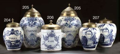 A Brussels faience blue and wh