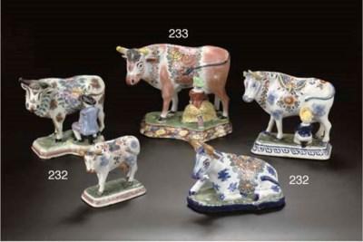 Four Dutch Delft polychrome mo