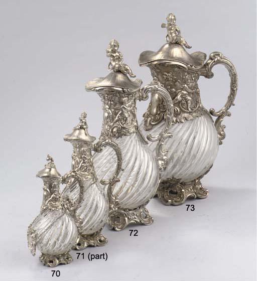 A Dutch Silver-Mounted Glass Claret Jug