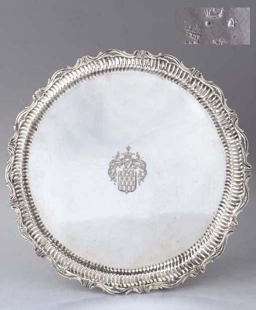 A Continental silver salver