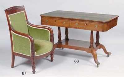 A RESTAURATION MAHOGANY BERGER