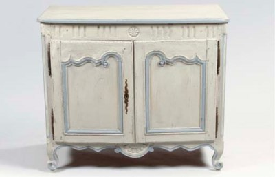 A FRENCH PROVINCIAL GREY-PAINT