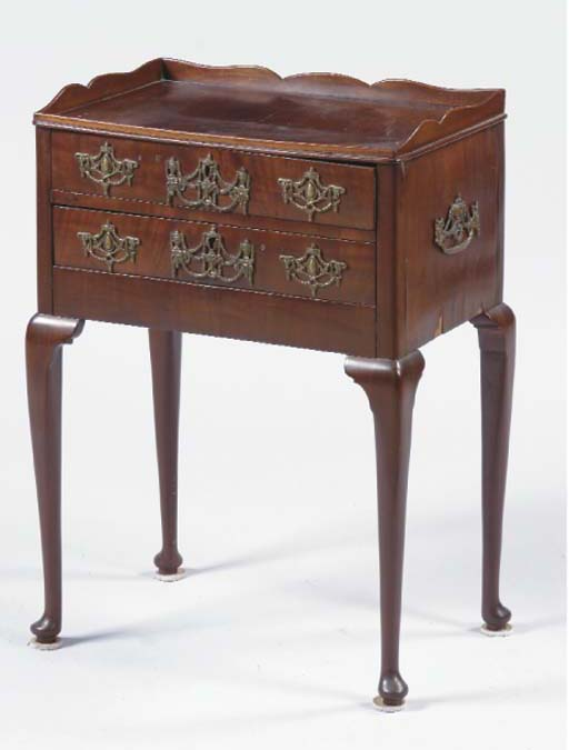 A DUTCH MAHOGANY COMMODE