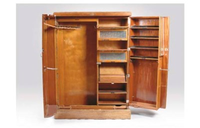 AN ENGLISH MAHOGANY WARDROBE