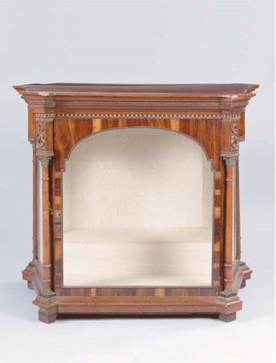 A FRUITWOOD AND PARQUETRY DISP