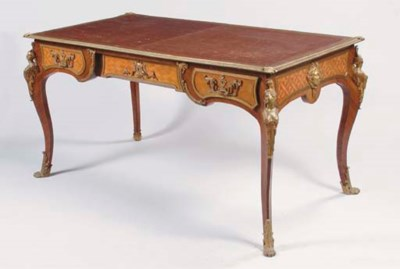 A FRENCH GILT-BRONZE MOUNTED,