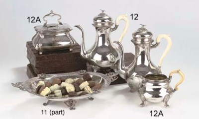 Two German silver coffee pots