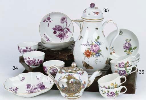 A set of four Meissen porcelai