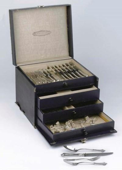 (96) A German silver flatware