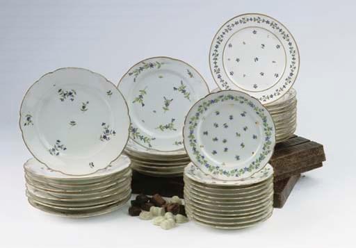Forty various Paris porcelain