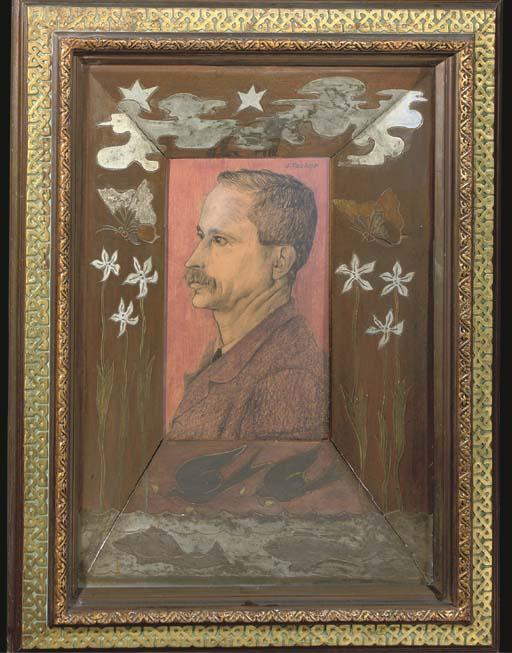 Jan Toorop, the frame executed
