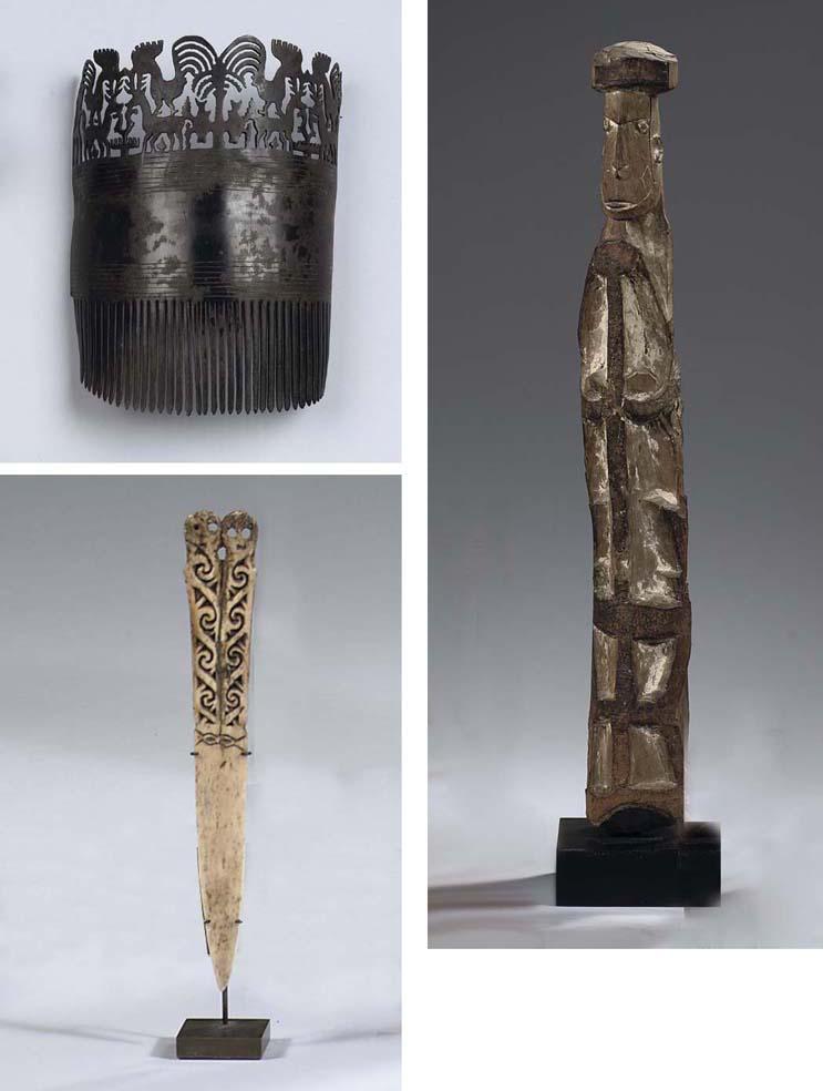 A Sumba tortoise shell comb, a