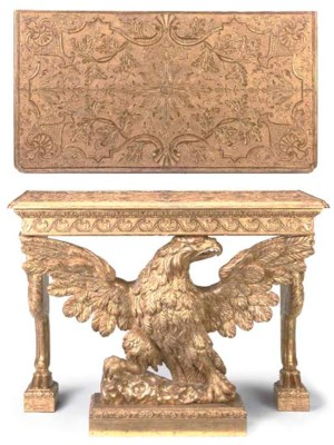 A GEORGE II GILT-GESSO AND GIL