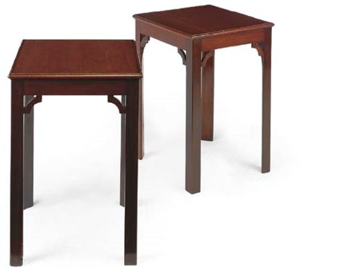 A PAIR OF MAHOGANY OCCASIONAL