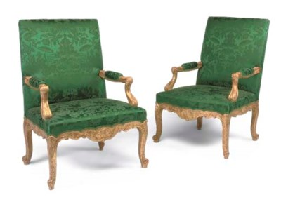 A PAIR OF GILTWOOD AND GILT-GE