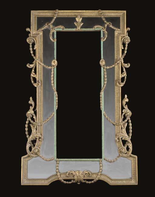 A LARGE GEORGE III GILTWOOD AN