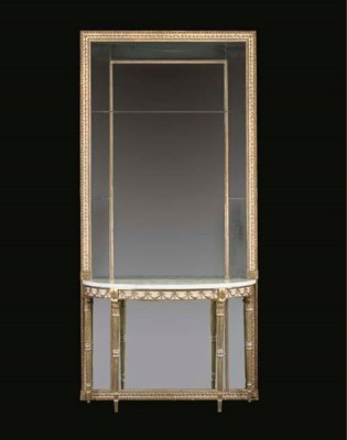 A GEORGE III GILTWOOD AND WHIT