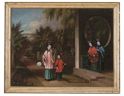 A CHINESE-EXPORT PAINTING