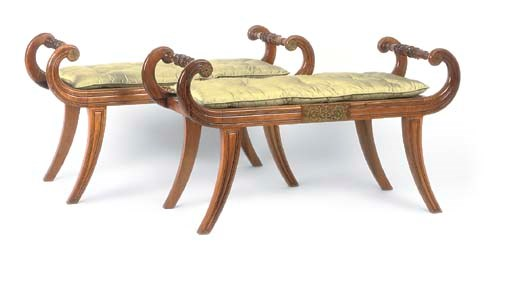 A PAIR OF REGENCY ROSEWOOD CAN