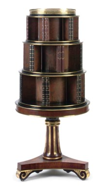 A ROSEWOOD, EBONISED AND PARCE