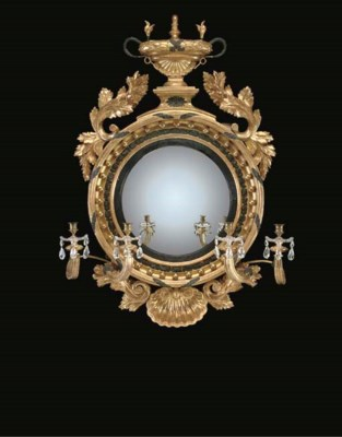 A GEORGE IV GILTWOOD AND BRONZ