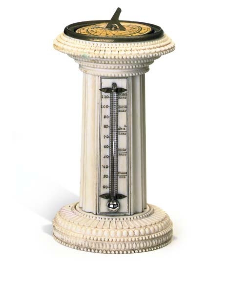 A VICTORIAN IVORY MAGNETIC SUN