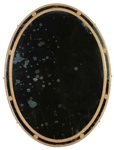 A LARGE VICTORIAN OVAL GILTWOO