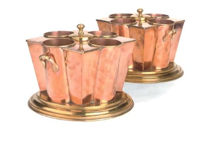 A PAIR OF COPPER AND BRASS WIN