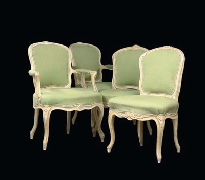 A SUITE OF LOUIS XV WHITE-PAIN