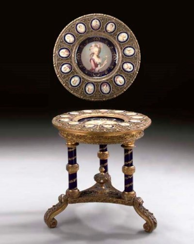 A Continental giltwood and Vie