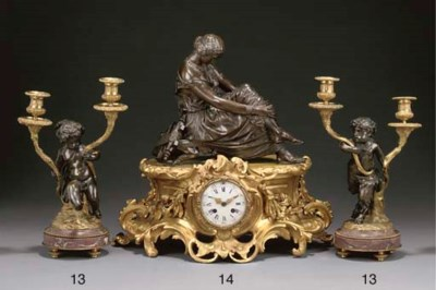 A Napoleon III ormolu and pati
