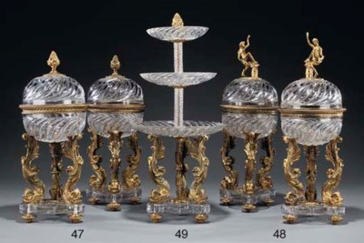 A pair of Continental ormolu a
