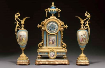 An ormolu and Sevres style tur