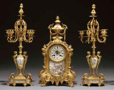 A Napoleon III ormolu and enam