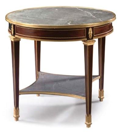 A late Louis XVI style ormolu-