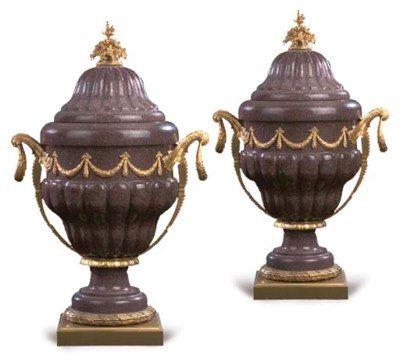 A pair of large Louis XVI styl