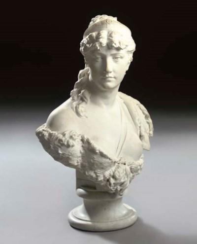 An Italian marble bust of Dian