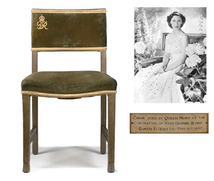 Queen Mary's chair used for th